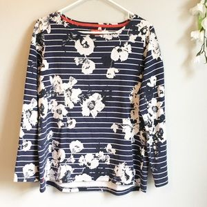 Joules Clothing Navy Floral Long Sleeve Tunic